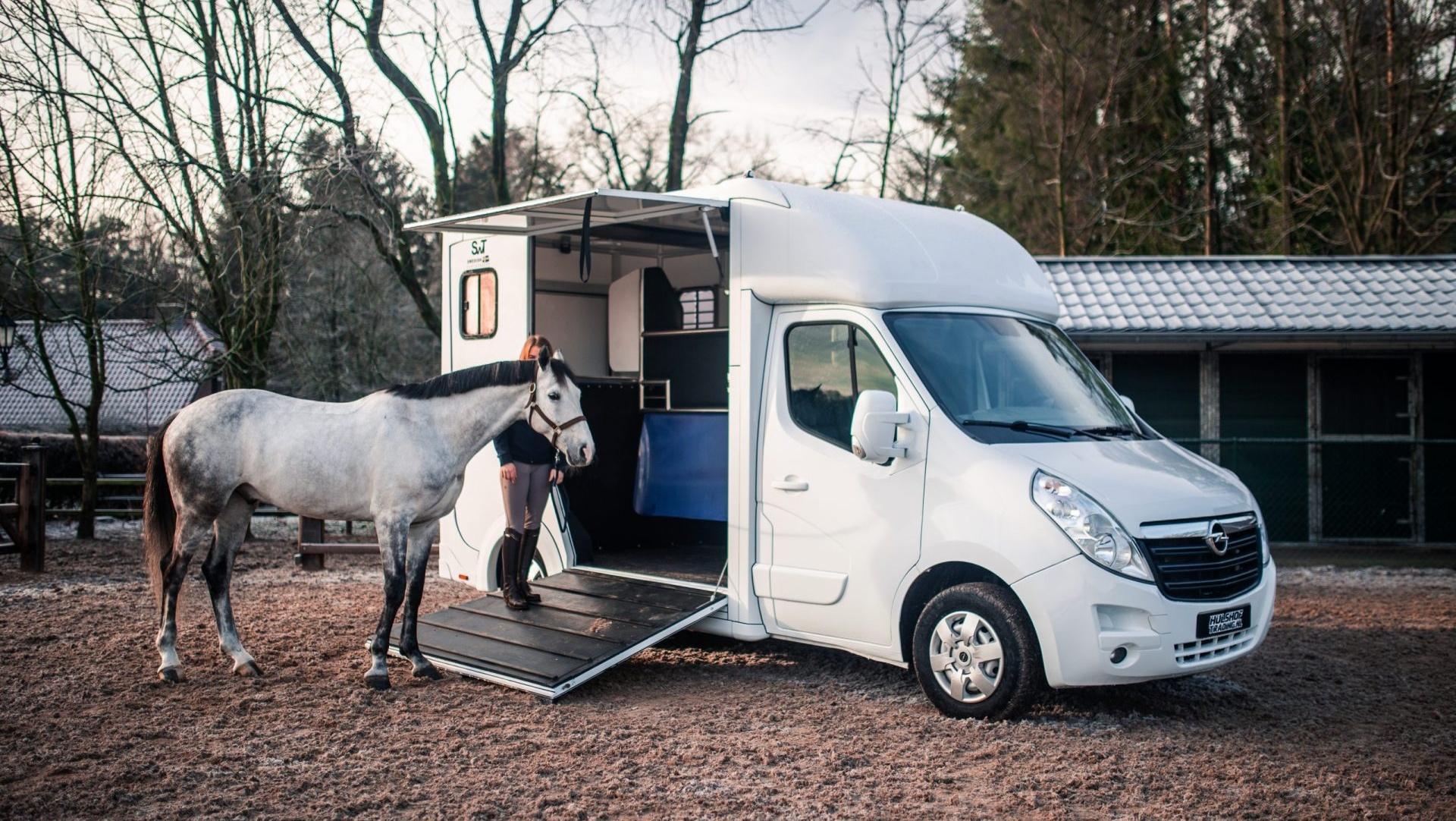 paard inladen paardenwagen
