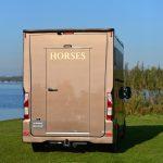 Achterkant paardenwagen